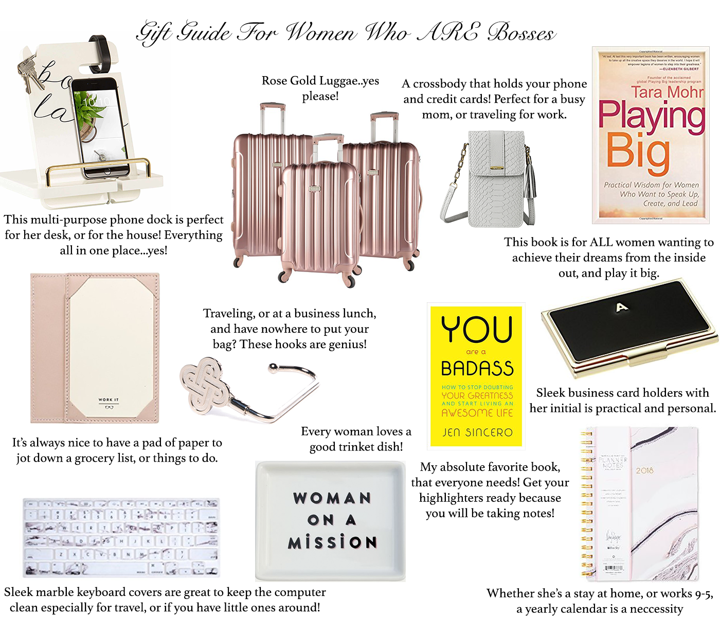 Gift Guide For Women Who ARE Bosses